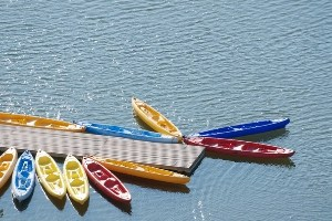 Rent canoes and kayaks at campground