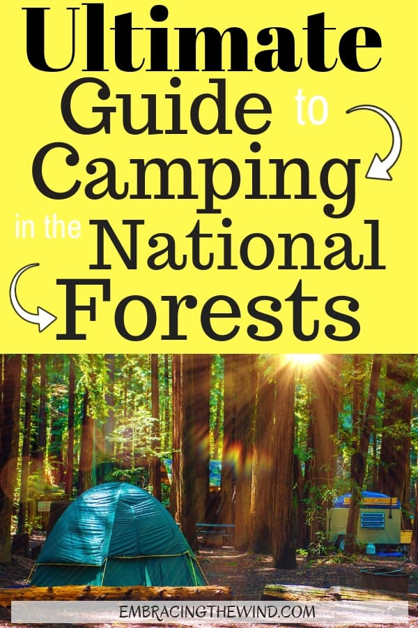 Everything you need to know about camping in national forests. Camprounds and dispersed camping, rules and camping ideas. for your adventure.