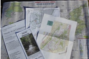 national forest maps for camping in national forests