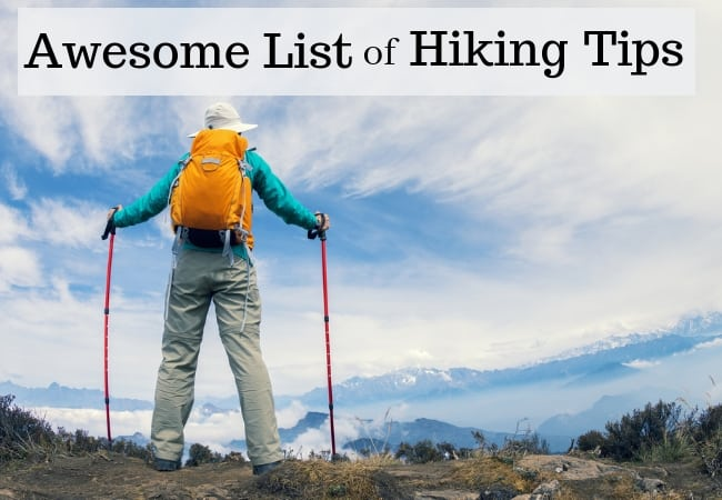 Awesome list of hiking tips for the beginner hiker