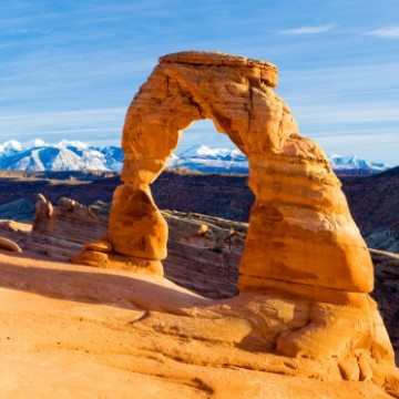 Spring Camping destination Arches National Park