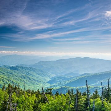 Spring camping destination Great Smoky Mountain National Park