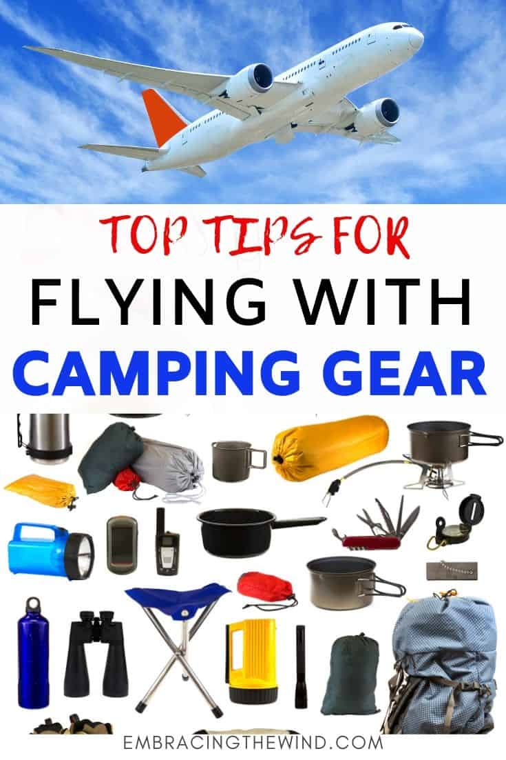 Camping gear on your airplane flight