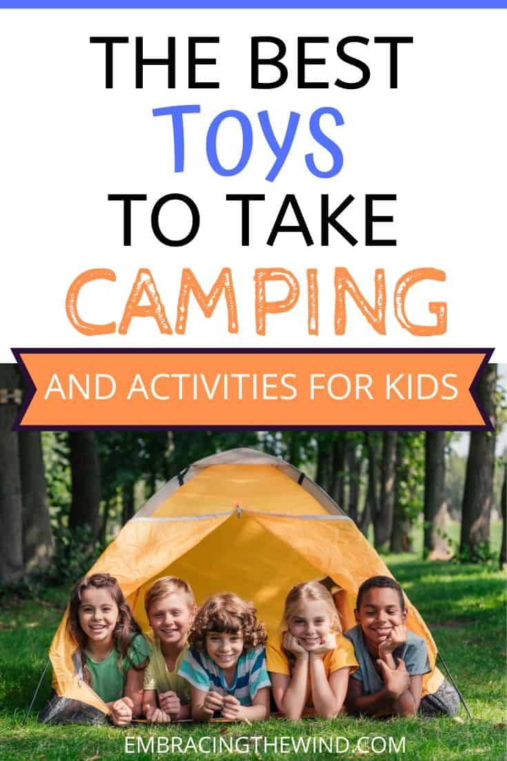 Kids camping toys and activities