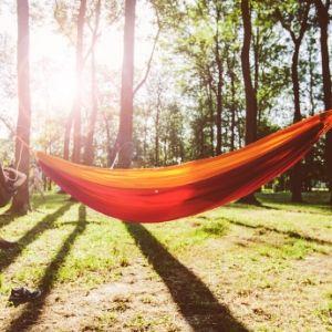 Hammock camping at home