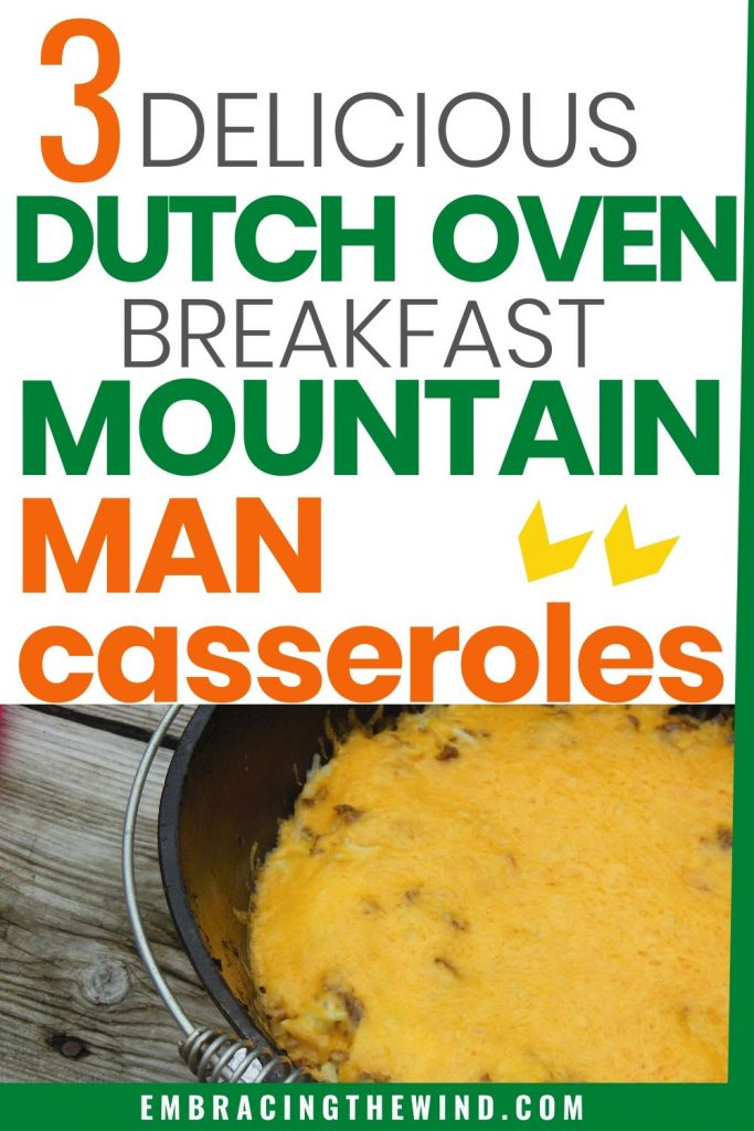 Mountain man breakfast in the dutch oven
