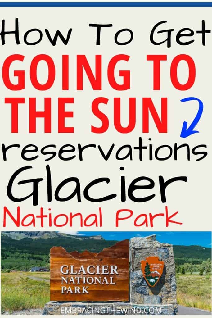 Glacier National Park how to get Going to the Sun Road reservations